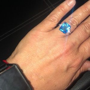 Jewelry - Gently Used Blue & Silver Ring!
